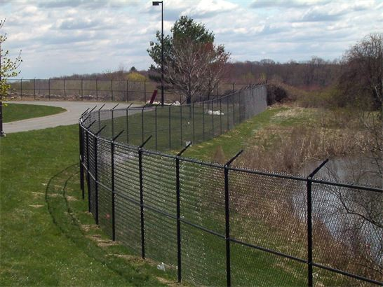 chain link fence barbed wire. 8ft high commercial chain link with barbed wire all black chain link fence barbed wire